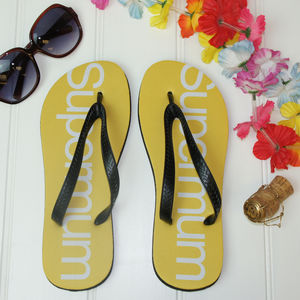 Super Mum Flip Flops - women's fashion