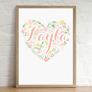 Personalised Name Print - christening gifts