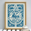 Down The Hatch Nautical Print