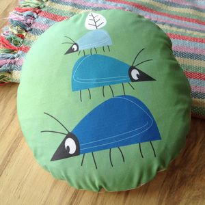 Children's Balancing Beetle Cushion - patterned cushions