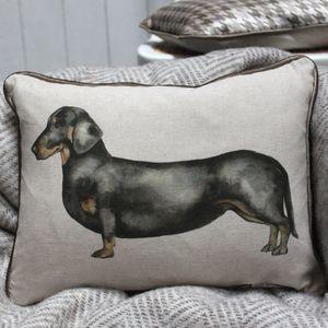 Louis Dachshund Linen Cushion