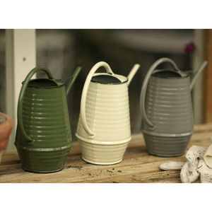 Enamel Metal Watering Can - potting shed essentials