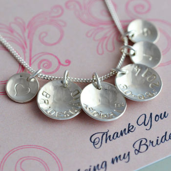 Bridesmaid Necklace Sterling Silver