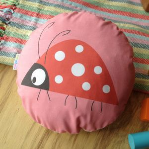 Children's Ladybird Cushion - nursery cushions