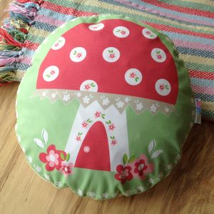 Children's Toadstool Cushion - bedroom