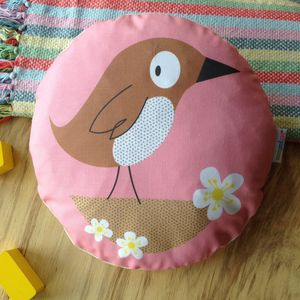 Children's Bird Cushion - patterned cushions