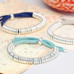 Suede Silver Links Bracelet - view all sale items