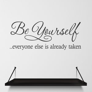 Wall Sticker Quote Be Yourself - wall stickers