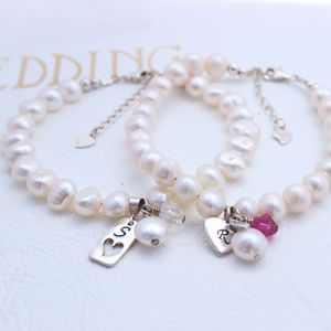 Bridesmaids Pearl And Crystal Bracelet