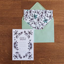 Floral Pop RSVP in cool green