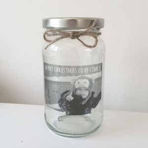 Personalised Christmas Photo Message Jar - tins, jars & bottles