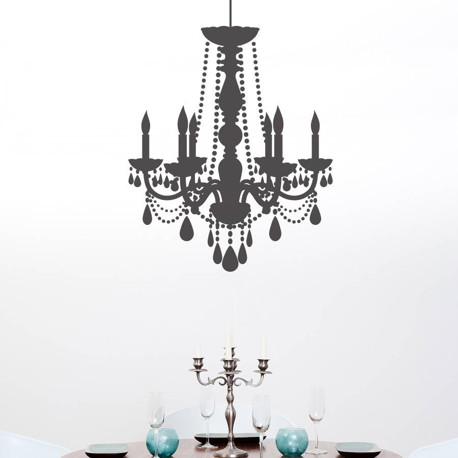 chandelier wall sticker by making statements