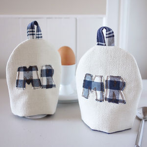 Personalised Mr And Mr Egg Cosies - kitchen