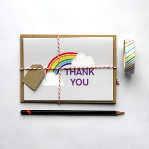 Pack Of Five Thank You Note Cards - thank you cards