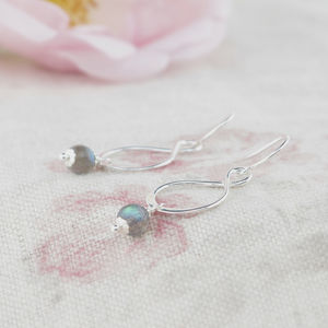 Aida Labradorite And Sterling Silver Earrings - earrings