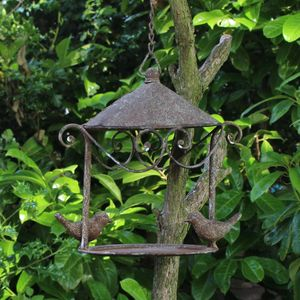 Aged Metal Bird House - for small animals & wildlife