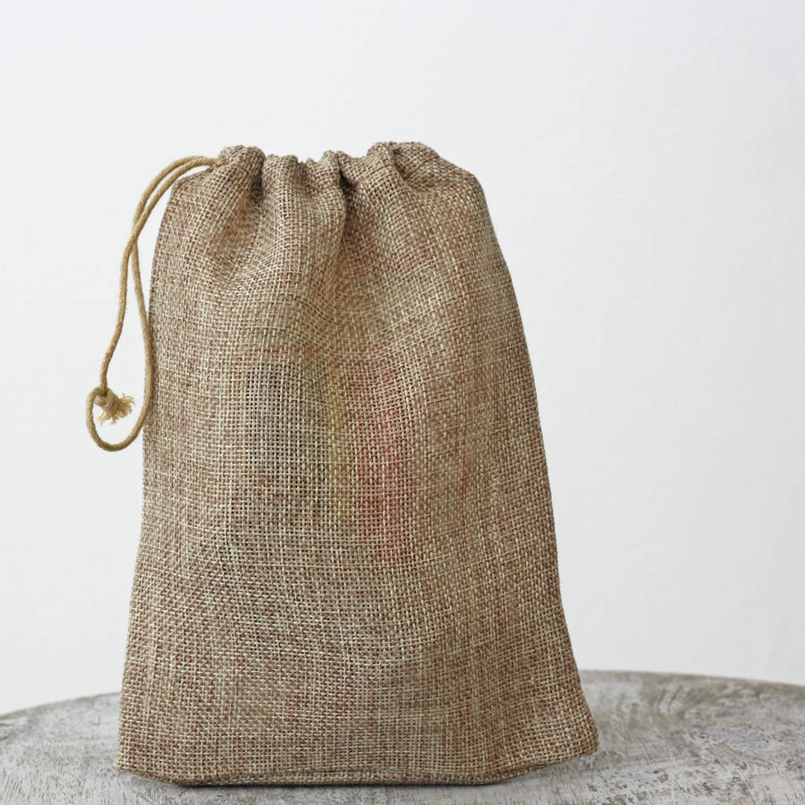 hessian drawstring bag by the wedding of my dreams ...