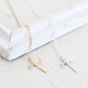 Mini Dragonfly Necklace - necklaces & pendants