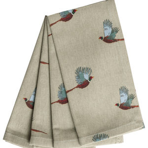 Set Of Four Pheasant Napkins - home