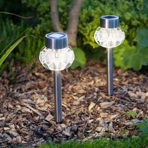 Set Of Four Solar Stake Lights - garden