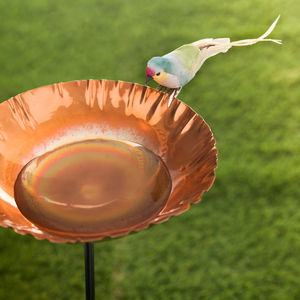 Copper Chalice Garden Bird Bath Sculpture - less ordinary garden ideas