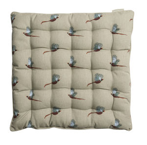Pheasant Chair Pad - patterned cushions