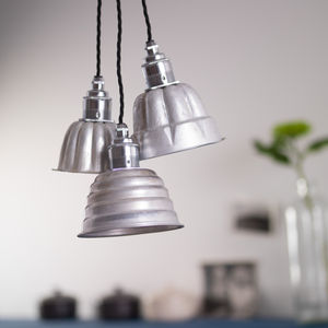 Vintage Jelly Mould Pendant Lights - bedroom