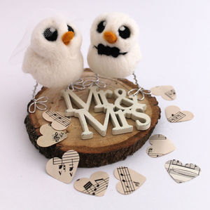 Mini Bride And Groom Wedding Cake Topper - cakes & treats