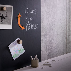 Magnetic Blackboard Wallpaper - home decorating