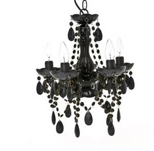 Small Black Ceiling Chandelier