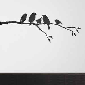Birds On A Branch Wall Sticker - wall stickers