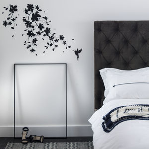 Sakura Blossom Wall Sticker - monochrome bedroom