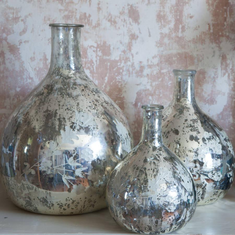 silver leaf vases by nkuku. Black Bedroom Furniture Sets. Home Design Ideas