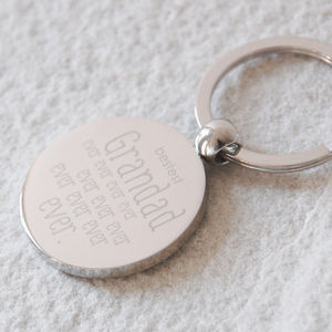 Bestest Grandad Ever Keyring - men's accessories