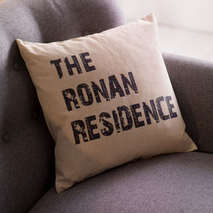 Personalised Home Cushion - living room
