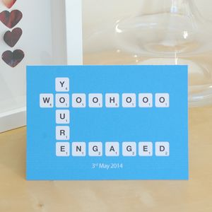 Scrabble Engagement Card - wedding, engagement & anniversary cards