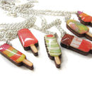 Retro Ice Lolly Charm Necklace