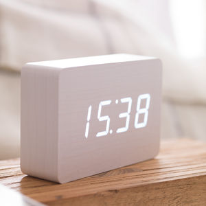 Brick White Click Clock - clocks