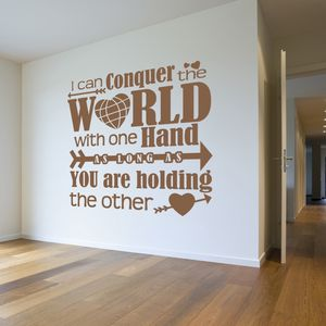 'Conquering The World..' Wall Sticker