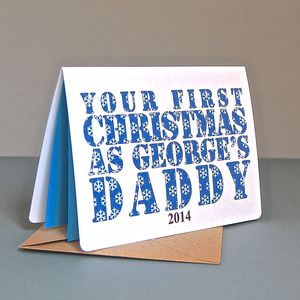 Personalised First Christmas As Parents Card - cards
