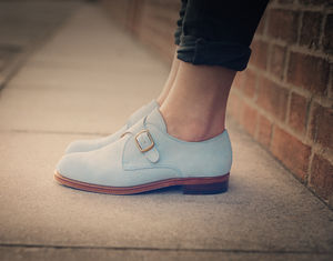 Women's Pastel Monk Shoes - shoes