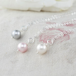 Alexia Pearl And Sterling Silver Pendant - flower girl jewellery