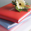 Luxury Coloured Leather Wedding Guest Book