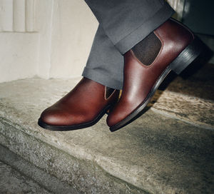 Men's Leather Chelsea Boots - men's fashion