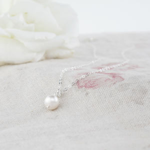 Alexia Ivory Pearl And Sterling Silver Pendant - necklaces & pendants