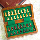Travelling Chess Set In Real Leather Case
