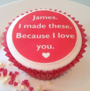 I Love You Cupcake Toppers - cakes & treats