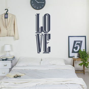 Retro Love Wall Sticker Wall Decal