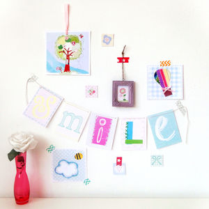 Art Prints, Mini Bunting And Frame Styling Kit - posters & prints