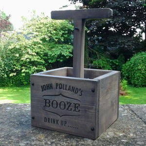 Personalised Vintage Engraved Beer Crate - kitchen